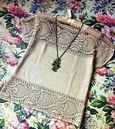 Fabulous Crochet a Little Black Crochet Dress Ideas. Georgeous Crochet a Little Black Crochet Dress Ideas. Crochet Yoke, Mode Crochet, Crochet Fabric, Crochet Blouse, Crochet Clothes, Diy Clothes, Clothes For Women, Mixed Models, Diy Shirt