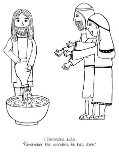 Water to Wine // UMHB Easter Pageant Coloring Book