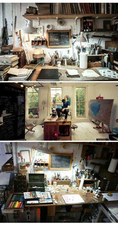 Oliver Jeffers' work space
