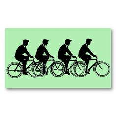 Vintage Old Fashion Bicycles Cyclists Ride Business Card Template