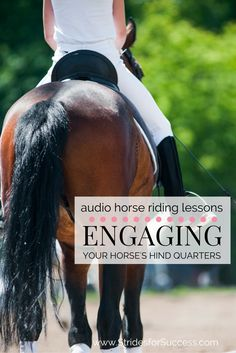 Do you find that your horses hind quarters spend more time dragging out behind him, rather than working underneath him? This will help you activate and then engage them when riding...