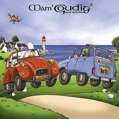 La deudeuche de mam goudig little french car - Dessin 2cv humour ...