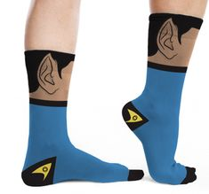 These Spock Socks are affordable and perfect for Star Trek fans. #GeekGifts  Thank goodness my bro got these for me because if not I would have gone out of my Vulcan mind