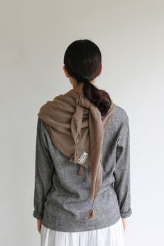 ARTS&SCIENCE Square scarf M~wool