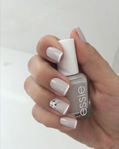 Nails art grey essie 26 Ideas for 2019 Diamond Nail Designs, French Nail Designs, Nail Art Designs, Nails Design, Cute Nails, Pretty Nails, Hair And Nails, My Nails, Nagellack Design