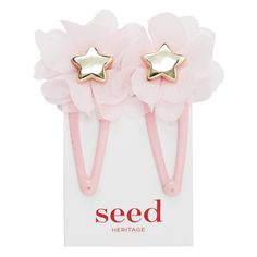 Soft ice pink tulle flower star snap.
