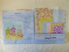 KIT04 Beach Huts - Kits from Abigail Mill Embroidery