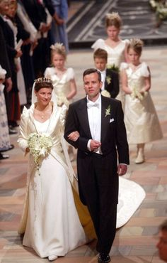 Princess Martha Louise is divorcing her husband of 14 years, Ari Behn.  The couple attends the Swedish Royal wedding at The Royal Pala...