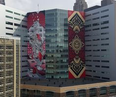"""Balancing Act"" by How & Nosm in Detroit #streetart"