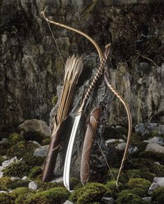 elven sword quiver bow and arrows