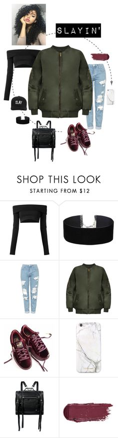 """""""Slayin girl"""" by wearall ❤ liked on Polyvore featuring Puma, Miss Selfridge, Topshop, WearAll, russell+hazel, McQ by Alexander McQueen and Boohoo"""