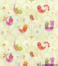 Summer Breeze Pattern Collection by Linda Solovic #patterns #illustration