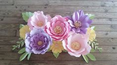 Backdrop - Candy Bar - Wedding Arch - Birthday Party - Large Paper Flowers - Flower Backdrop - Custom Made