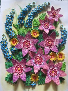 Sun flower quilling quilling pinterest quilling flower and beautiful quilled flowers mightylinksfo