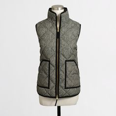 J.Crew herringbone black and white vest. This is what my cold weather dreams are made of...