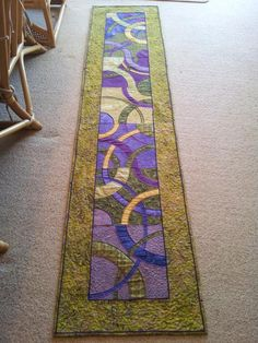 """""""Satin Circles Bedrunner"""" (posted to Craftsy by Cherine F.)"""