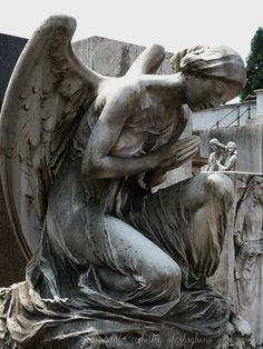 Another Beautiful Photo of a great Angel Sculpture at Cimitero Monumentale - Milano. (courtesy of Lili at Cemetery of staglieno and more) https://www.facebook.com/pages/Cemetery-of-staglieno-and-more/380690288670747