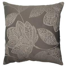 "Gray Floral Throw Pillow 18""x18"" - Pillow Perfect"