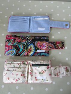 Small handmade wallets: Inspiration. From soresourceful.wordpress.com