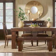 Rowan Rustic Burnished Oak Dining Set | Overstock.com Shopping - The Best Deals on Dining Sets
