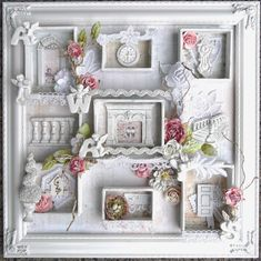 ILuvVintageScrap: Shabby Chic Frame Shadow Box - Prima