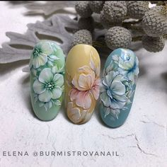 Art Deco Nails, 3d Nails, Pink Nails, Cute Nails, 3d Flower Nails, Flower Nail Designs, Nail Art Designs, Floral Nail Art, Nail Art Diy