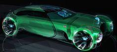 Car Design Sketch, Car Sketch, Design Autos, Design Cars, Bentley Design, Donk Cars, Blue Train, Machine Design, Transportation Design