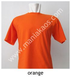 Kaos O-neck Lengan Pendek Orange.