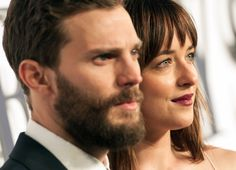 Jamie Dornan and Dakota Johnson at the Fifty Shades of Grey London Premiere