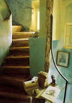 Nooks and crannies, books and stairs-all a home needs + love and imagination!