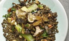 Yotam Ottolenghi's lentils with mushrooms and preserved lemon ragout: 'Win round your friends.' Photograph: Colin Campbell for the Guardian. Food styling: Claire Ptak