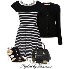 """""""Black & Winter White Outfit"""" by mozeemo on Polyvore"""