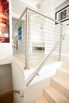 stainless steel cable railing san francisco stairs and landing
