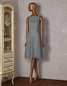 Beautiful grey lace dress by Dolce & Gabbana.