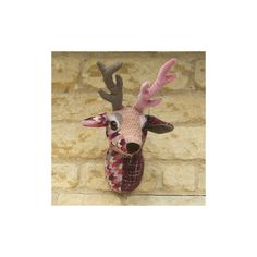 WALL+MOUNTED+FABRIC+TROPHY+HEAD+in+Buck+the+Stag+Design