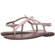 002f78111 Sam Edelman Gigi (Pink Mauve Kid Suede Leather) Women s Sandals (3.150 RUB)  ❤ liked on Polyvore featuring shoes