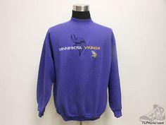 Vtg 90s Logo Athletic Minnesota Vikings Crewneck Sweatshirt sz XL Extra Large Vintage by TCPKickz on Etsy