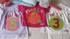 Langarmshirts - Geburtstagsshirt* Zahl 1-2-3-4-5-6-7*Name*Mädchen - ein Designerstück von Rosenevi bei DaWanda