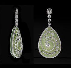 Diamond and Jade earrings