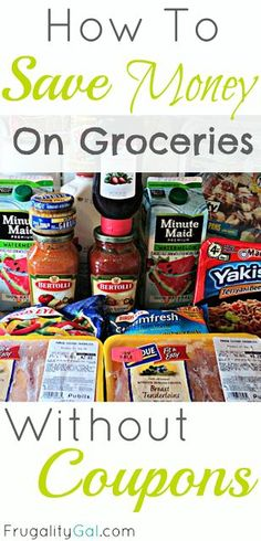 How to save money on groceries without coupons. Tons of practical tips. Pin now, read later.