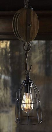 Pulley Pendant Light Fixture