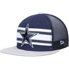 pretty nice cf715 eb9dc Cowboys New Era Throwback Stripe 9FIFTY Snapback Adjustable Hat – Navy    Gray Cowboys Cap,