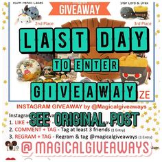 Last Day to Enter ... Will end giveaway today at 7:00PM . See original post for rules. Good Luck #magicalgiveaways #magicalgiveaway #disney #giveaway #instagramcontest #instagramgiveaway #instagramgiveaways #disneyland #giveaways #lastday #sunday #sundayfunday #marvel #marvelgiveaway #marvellove #tsum #tsums #tsumtsum #tsumtsums #groot #starlord #ilovetsumtsum #contest #free #freebies #shoutout #pleaserepost #findmeatdisney #followme by magicalgiveaways