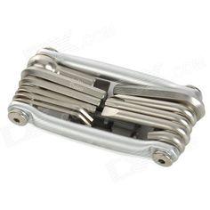 GUB HIN-181 18-in-1 Multi-Functional Folding Bicycle Repair Tools Kit - Silver   Black Price: $18.40