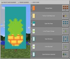 Minecraft Banner Patterns, Cool Minecraft Banners, Easy Minecraft Houses, Minecraft Plans, Amazing Minecraft, Minecraft Decorations, Minecraft Tutorial, Minecraft Blueprints, Minecraft Creations