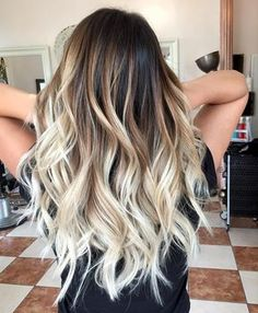 20 Fabulous Brown Hair with Blonde Highlights Looks to Love: Balayage Beach Blonde - Ombre Hair Ombré Hair, New Hair, Hair Updo, Curls Hair, Loose Curls, Hair Yarn, Halo Hair, Hair Gel, Cabelo Ombre Hair