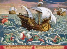Hunting Sea Creatures, plate 84 from 'Venationes Ferarum, Avium, Piscium' Posters  Art Prints by Jan van der Straet - Magnolia Box