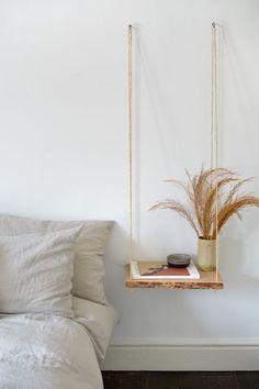 Room Ideas Bedroom, Diy Bedroom Decor, Diy Home Decor, Diy Ideas For Bedroom, Bed Room, Diy Crafts Room Decor, Diy Nightstand, Floating Nightstand, Aesthetic Room Decor