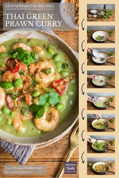 A fragrant and creamy Thai green prawn curry recipe with plump and juicy prawns and nutty edamame beans. Make your own Thai green prawn curry at home with this simple recipe and this easy to make Thai green curry paste. Better than a takeaway any night of the week.