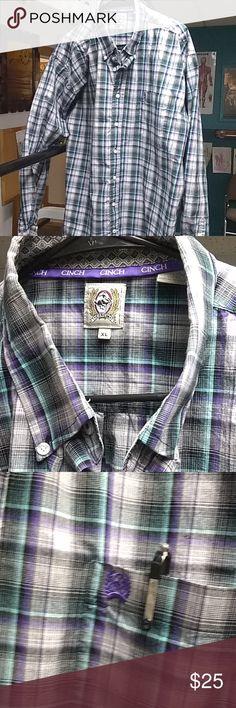 Dress Shirt Long sleeve, button down cotton. Cinch Shirts Casual Button Down Shirts Casual Button Down Shirts, Casual Shirts, Dress Shirt, Purple, Blue, Long Sleeve Shirts, Product Description, Man Shop, Best Deals